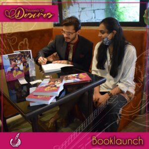 Kanwal Khoosat and Ali Sheikh at book launch of Thousand of Desires