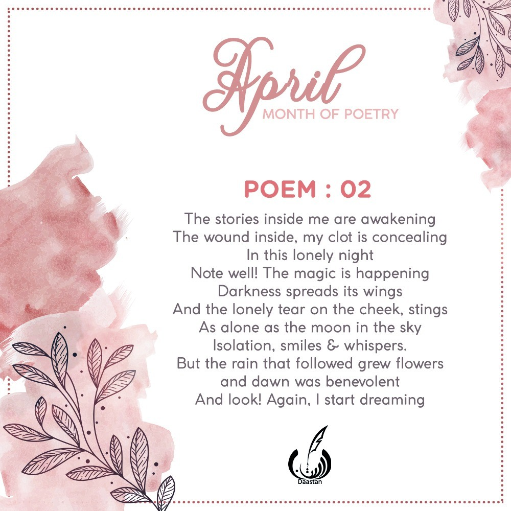 Selected English Poem from Daastan's Poetry Writing Campaign April 2020
